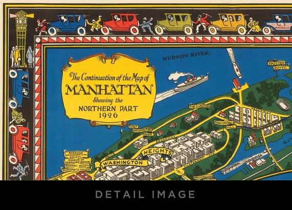 20x30 1926 Map of the Wonderous Isle of Manhattan