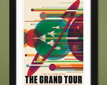 "NASA JPL ""Grand Tour"" Visions of the Future (12x18 Heavyweight Art Print)"