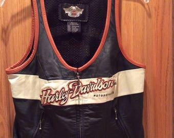 Harley Davidson Motorcycle Vest - Woman's Size M