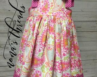 6f07ea5e9 Girls paisley dress | Etsy