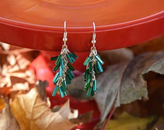 Czech Glass Cascade Earrings