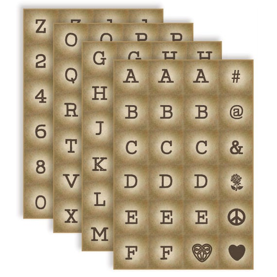Art Sheets Block Letters Numbers And Symbols Etsy