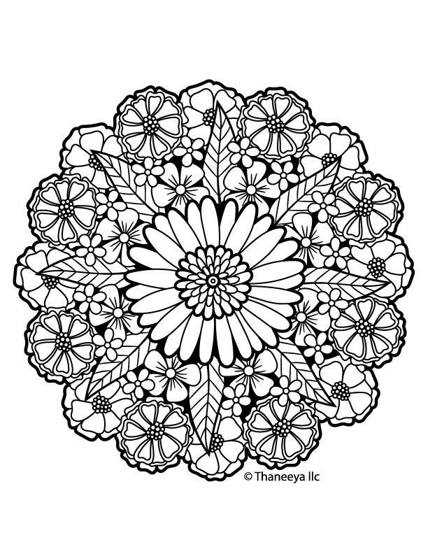 Iron-On Transfer Thaneeya Mandala Flower 8   Etsy