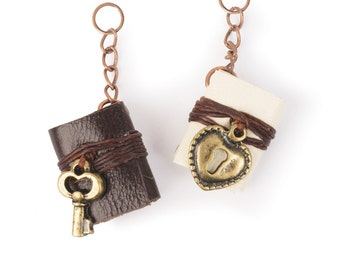Leather Book Charms (STEAM245)