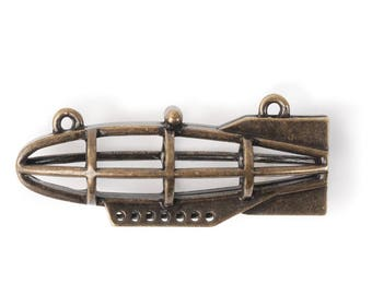 3D Airship Frame Pendant (STEAM328)