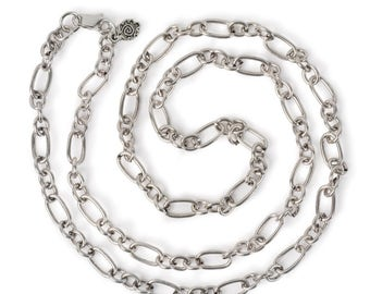 """Large Link Chain 24"""" Necklace - Silver"""