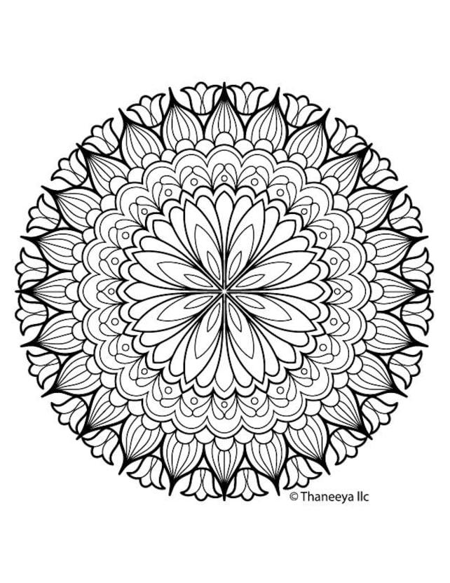 Iron-On Transfer Thaneeya Mandala Flower 13   Etsy
