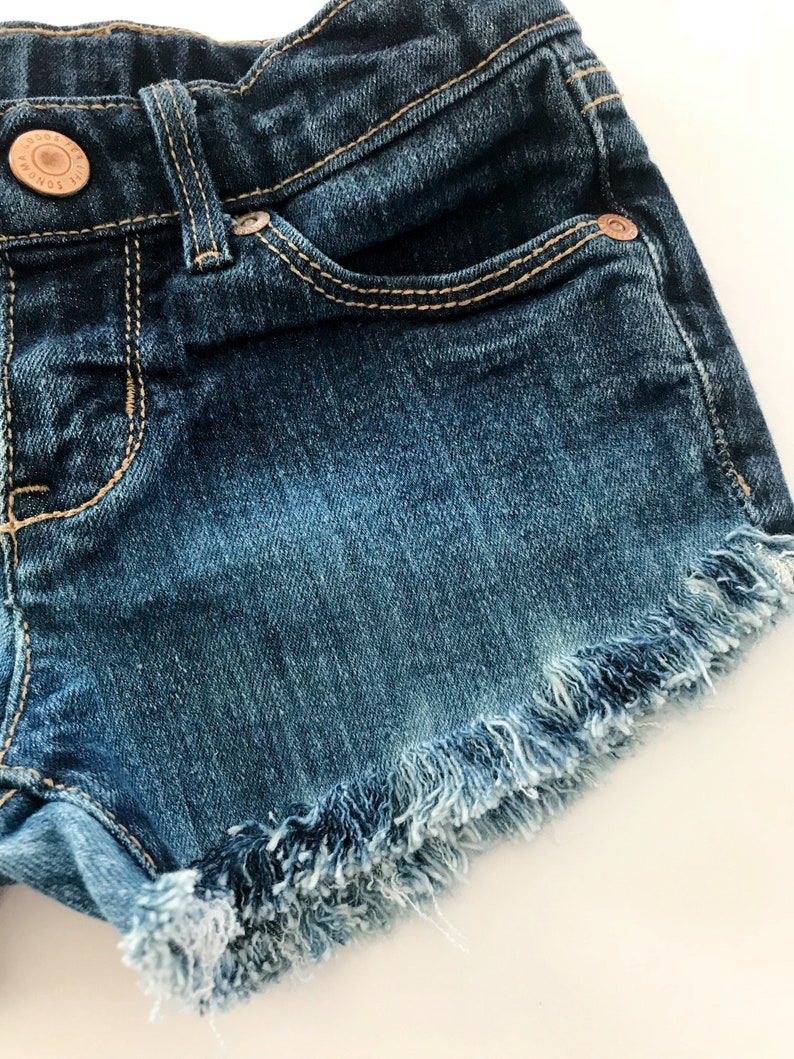 Girls Jean Shorts Distressed Denim Girls Shorts Cutoffs Sissys Shorties Made To Order Hippie Clothing Frayed Shorts