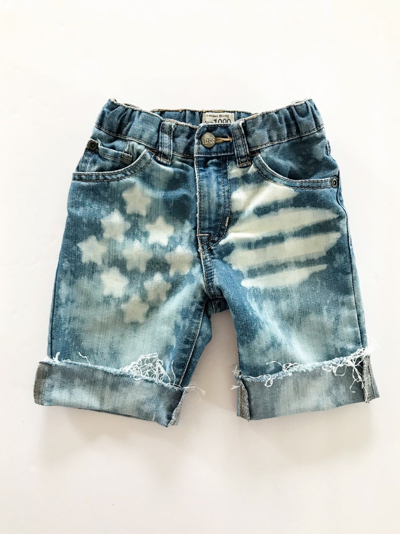 10917bc7 4T kids Distressed Bleached Denim Shorts Bermuda Shorts | Etsy
