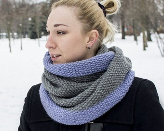 765b2b39af3 Infinity scarf Winter Circle women scarves Knit wool scarf wrap Oversized  cowl scarf Hooded loop scarf Chunky eternity scarf Outdoor gift