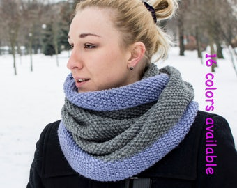 Infinity scarf Winter Circle women scarves Knit wool scarf wrap Oversized cowl scarf Hooded loop scarf Chunky eternity scarf Outdoor gift