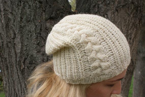 Braderie haut de gamme authentique répliques Chapeau d'hiver, tricot mitaines, chapeaux femmes, bonnet, crème, fête des  mères cadeau du jour, chapeau d'hiver, bonnet tricot, chapeaux d'hiver ...