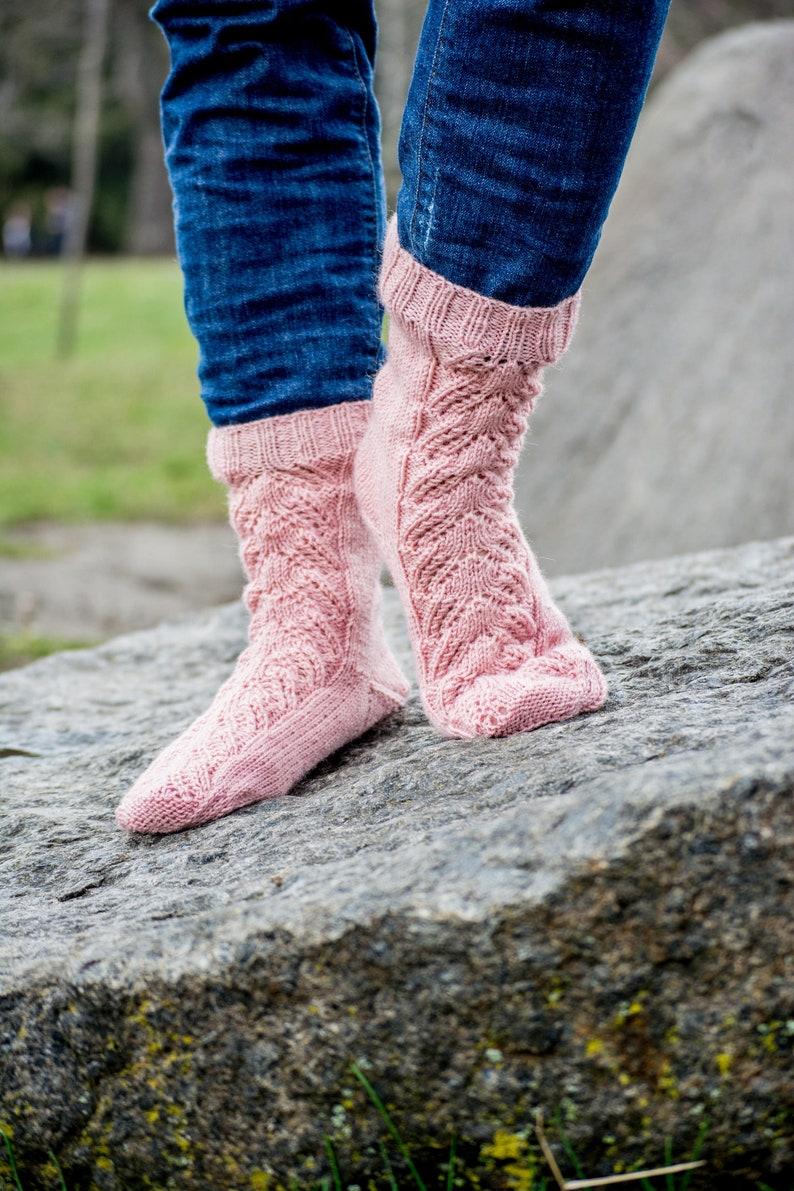 5b152d9f291 Hand knit warm winter wool socks Slipper socks Boot cute socks