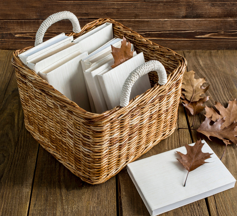 Wicker storage basket Storage bin Laundry basket Toy storage   Etsy