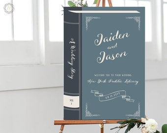 Wedding Welcome Sign, Book Welcome Sign, Literary Wedding, Book Themed Wedding, Welcome to Wedding Sign, Book, Printable Welcome Sign, #LCS