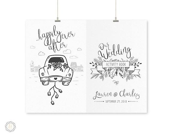 Wedding Coloring Book, Wedding Activity Book, Kids Wedding Book, Kids  Activity Book, Printable Activity Book, Activity Book Wedding, DIY