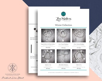 line sheet word template wholesale catalog simple elegant etsy