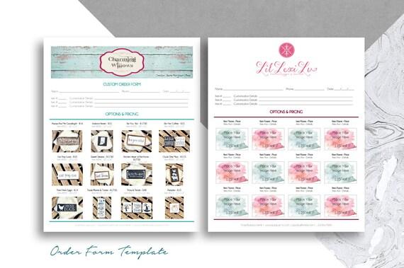 Bestellformular Vorlage mit Fotos druckbare 8.5 x 11 Form | Etsy