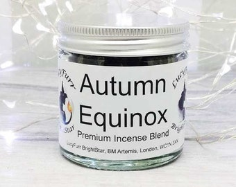 Autumn Equinox Handmade Special Loose Incense Blend in 60ml Jar/ Incense for Autumn Equinox