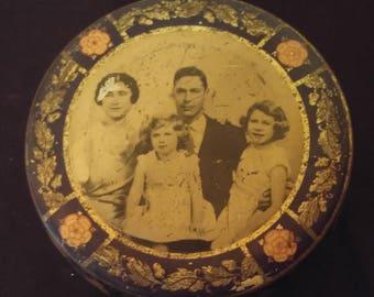 British Royal Family tin box