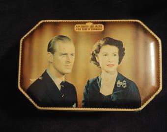 Souvenir Biscuit Tin of Queen Elizabeth II
