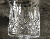 Waterford Crystal Lismore Footed Hurricane Pillar Candle Holder New Vintage