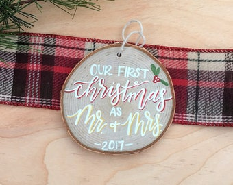 Our First Christmas as Mr. & Mrs. Ornament   Christmas Ornament   Christmas Decor   Wedding Gift   Christmas Gift