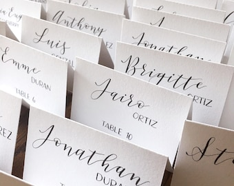 Wedding place cards Etsy