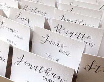 more colors calligraphy place cards wedding - Wedding Place Cards