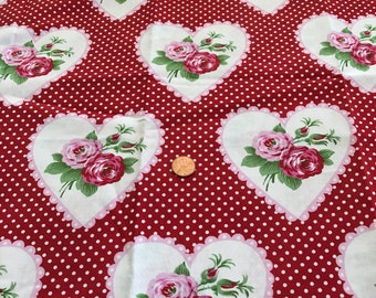 Valentines Hearts & Roses Fabric