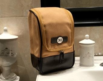 Men's Travel Bag, Monogrammed Dopp Kit Bag, Personalized Toiletry Bag, Gift for Men, Shaving Kit for Men, Gifts for Dad, Groomsman Gift