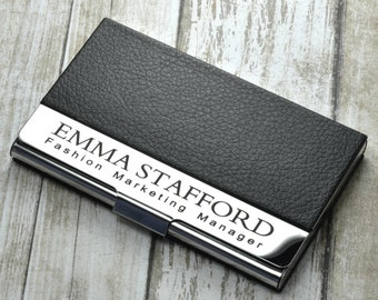 personalized business card holder engraved monogrammed business card holder business gift corporate graduation christmas holiday gift - Engraved Business Card Holder