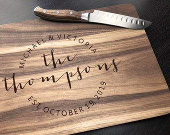 Custom Cutting Board  Personalized Wedding Anniversary Gift  Bridal Shower Gift  Personalized Cutting Board  Christmas Gift Engagement Gift