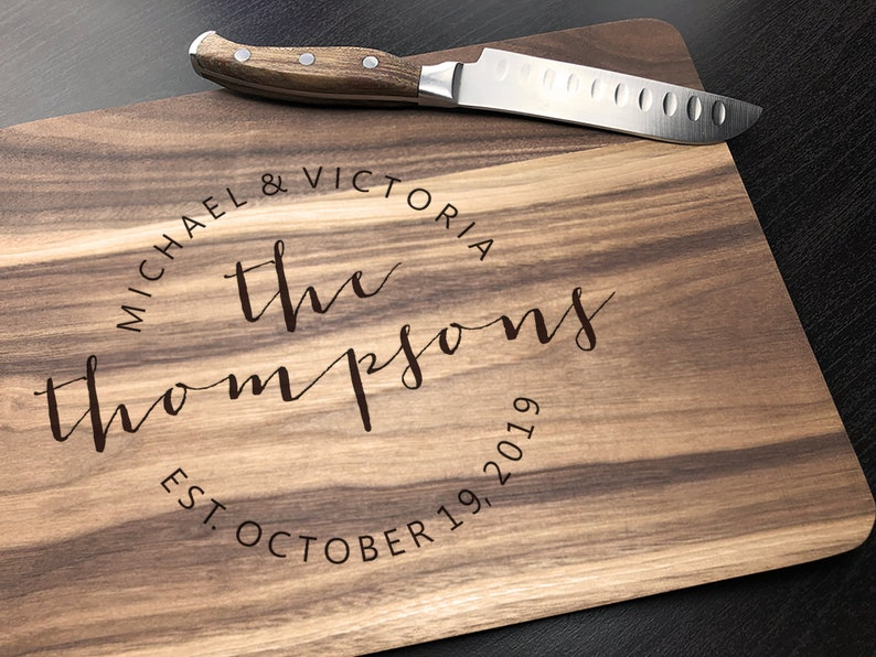 Personalized  Engraved Cutting board  Housewarming Gift image 0