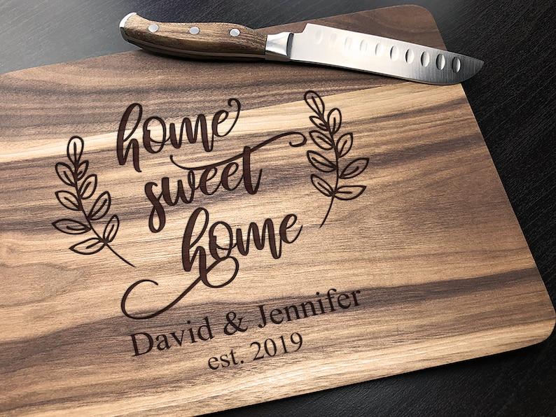 Engraved Cutting Board Custom Cutting Board Home Sweet Apartment Cutting Board Apartment Housewarming Gift, Personalized Cutting Board