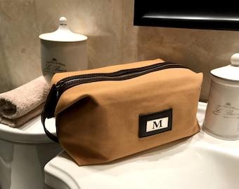 Engraved Dopp Kit Bag, Personalized Travel Kit, Monogrammed Toiletry Bag, Gifts for Men, Groomsmen Gift, Fathers Day Gift, Custom Shave Kit