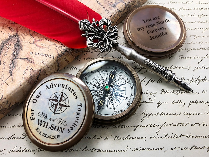 Compass Custom Engraved Working Compass Boyfriend Gift Gift image 0
