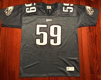 aa90f435d23 XL 90's Philadelphia Eagles football jersey Mike Mamula men's vintage Logo  Athletic NFL 1990's white black green 90's