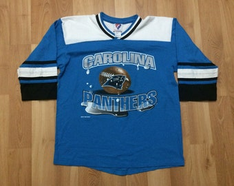 Youth XL 1997 Carolina Panthers jersey shirt blue black white Team Rated  90 s kids NFL 1990 s football 78a0bc41a