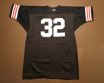 9d916bb36 XL 70 s Cleveland Browns football jersey men s Jim Brown Super Sports brown  white orange single stitch 1970 s