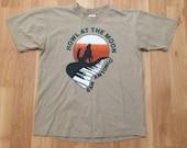 Large 90 39 s Howl At The Moon San Antonio T shirt men 39 s vintage 1990 39 s Anvil beige tan brown Texas