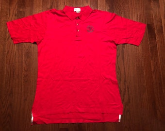 2ca4ef0cf35818 Large 80's Grand Florian Beach Resort men's golf shirt polo red 1980's IZOD  Club Bay Lake Florida FL