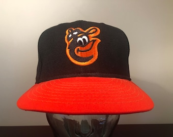 21f4ec0ea Size 7 1/4 80's Baltimore Orioles vintage fitted wool baseball hat cap Pro  Model Annco black orange Genuine MLB 1980's