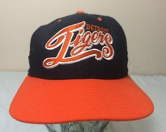 c5f30961d1b 90 s Detroit Tigers vintage Nutmeg Mills men s snapback baseball hat cap  Blue orange genuine MLB 1990 s