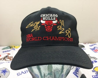 1993 Chicago Bulls baseball cap snapback hat NBA World Champions black red  gold snap back 90 s threepeat 3peat 1990 s basketball 25b72026564