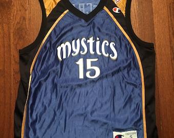 a014885df14 NEW Small 1998 Washington Mystics women's basketball jersey Nikki McCray  90's WNBA vintage Champion 1990's NWT blue gold