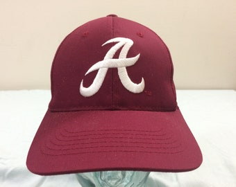 2efd6b136436b 1990 s University of Alabama Razorbacks vintage snapback Secondary Logo  baseball hat cap HMI Headwear maroon white 90 s snap back