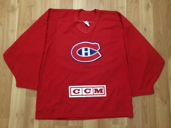 Large 90's Montreal Canadians hockey jersey CCM re