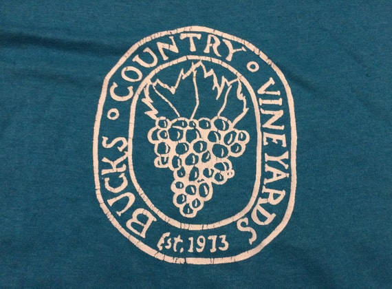 Large 80's Bucks Country Vineyards men's T shirt … - image 2