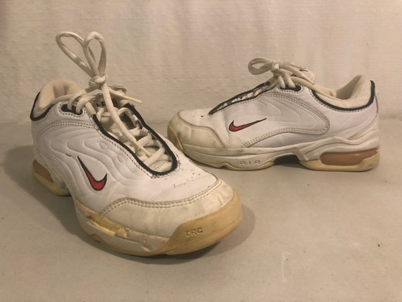 1999 Nike Air MX Tune sneakers tennis shoes men's size 8 white blue red 1990's vintage 90's